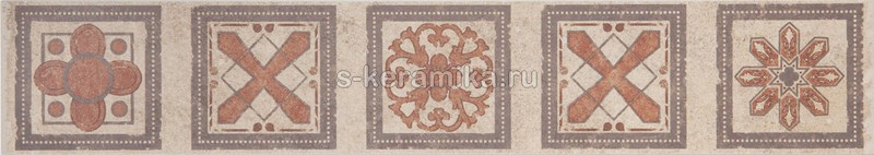 Бордюр GRASARO Old Stone 400x70 Frieze Aged Brown GT-183-f01/gr