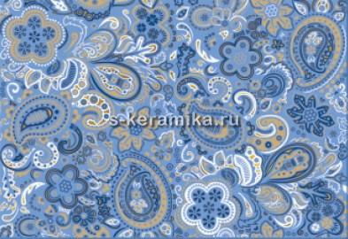 Декор AZORI Дамаско Блю Парча 405x278