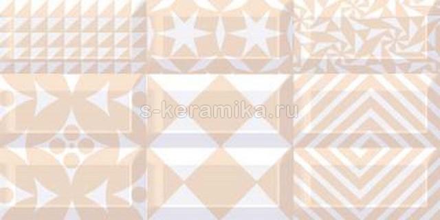 Декор AZORI Вог Беж Каре Лайт 405x201