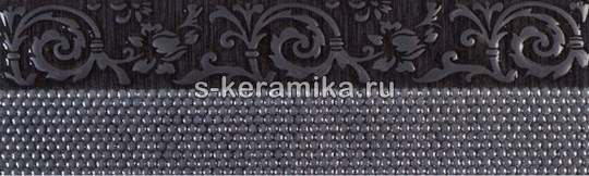 Бордюр GRACIA CERAMICA Pelegrina black border 01 250x75