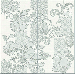 Панно AZORI ILLUSIO GREY 630x630 из 2 частей PATTERN