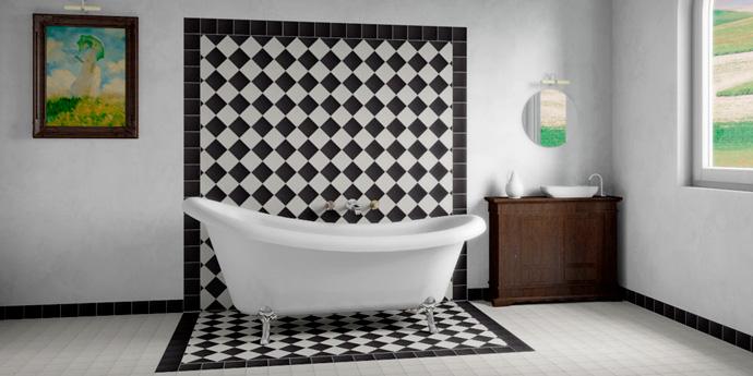 Метлаханская плитка в ванной