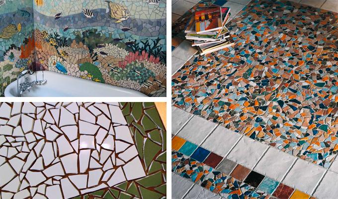 Мозаика из старой плитки